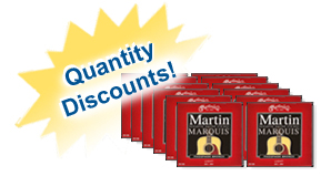 Martin Marquis phosphor bronze light guitar strings quantity