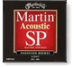 Martin SP phosphor bronze guitar strings lite