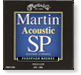 Martin SP phosphor bronze medium guitar strings